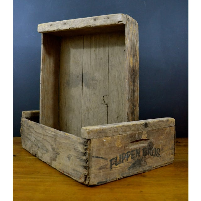 Flippen Bros. Wooden Fruit Crates - A Pair - Image 5 of 7