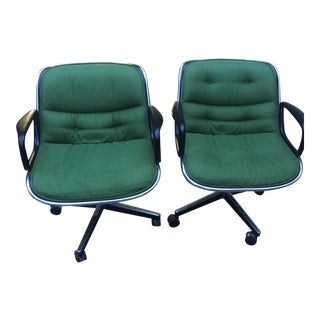 Charles Pollock for Knoll Office Chairs- A Pair