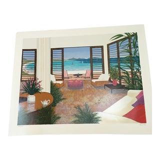 'Beach House' Serigraph by Fanch Ledan
