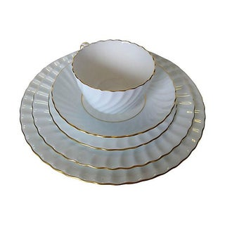 Minton Five-Piece Gilded Edge Place Setting