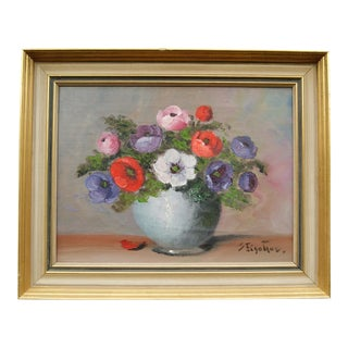 Still Life Painting of Flowers by Sigrid Fischer