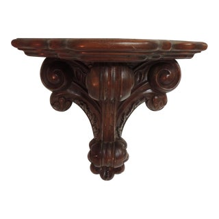 Vintage Wood Carved Wall Bracket