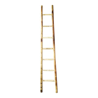 Antique Tall Bamboo Orchard Ladder