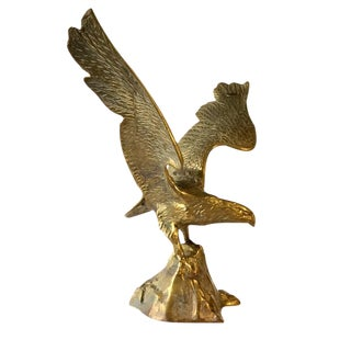 Vintage Brass Eagle Sculpture