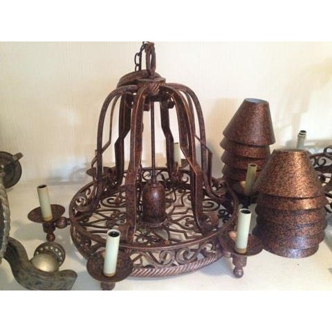Urban Archaeology Island Copper Kitchen Led Chandelier - Image 3 of 5