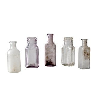 Antique Apothecary Bottle Collection - S/5