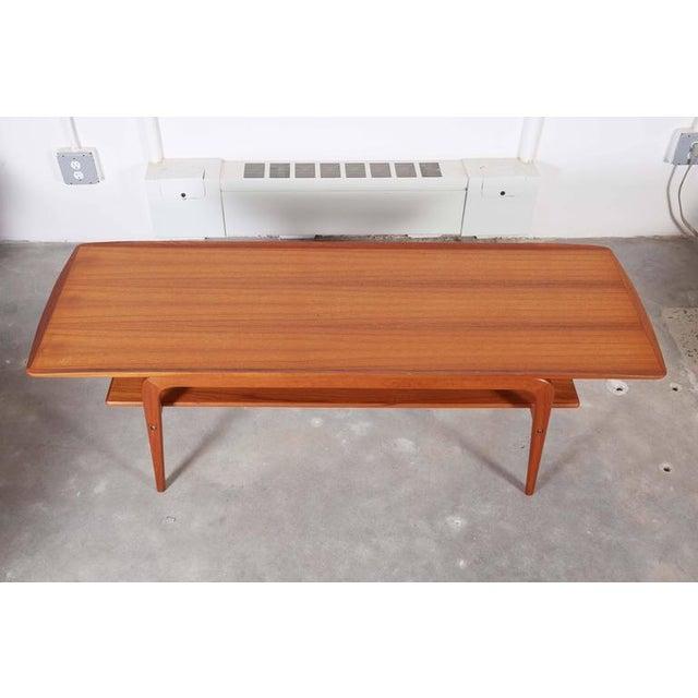 Danish Coffee Table with Shelf - Image 4 of 6