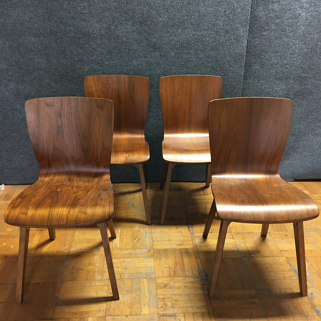 MCM Bentwood Dining Chairs - Set of 4 | Chairish