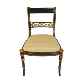 Black Lacquer and Gilt Side Chair