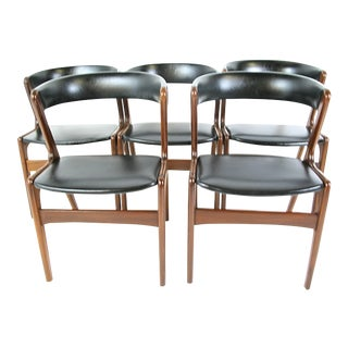 Kai Kristiansen Teak Dining Chairs - Set of 5
