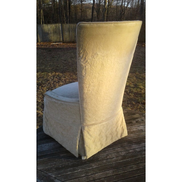 Vintage Highback Mohair Chair - Image 5 of 7