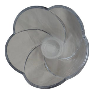 Mid-Century Lead Crystal Organic Glass Bowl