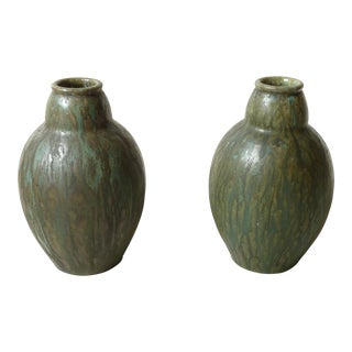 Arts & Crafts Glazed Vases - A Pair