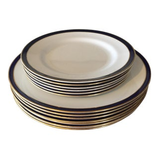 Spode Consul Cobalt Plates - Set of 13
