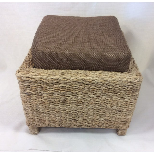 Handmade Woven Stool Mimbre Brown - Image 9 of 9