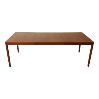 Florence Knoll Mid-Century Modern Walnut Extension Dining Table