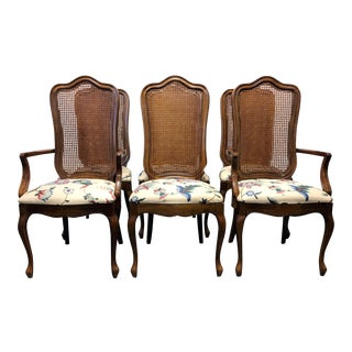 Thomasville French Country Cane Dining Chairs - Set of 6