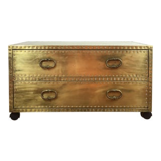 Sarreid Brass Coffee Table Chest