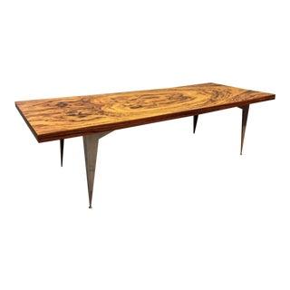 Bocote Coffee Table on Stiletto Legs