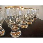 Image of Vintage Bohemian Pedestal Glasses - Set of 11