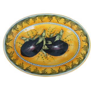 Tuscan Eggplant Decorative Platter