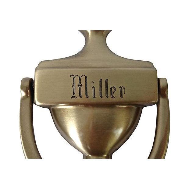 """Engraved Door Knocker """"Miller"""" - Image 2 of 6"""