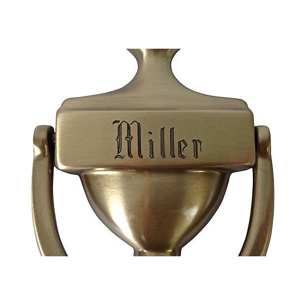 """Image of Engraved Door Knocker """"Miller"""""""