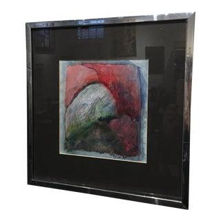 Rose Camastro Pritchett Framed Painting 1978