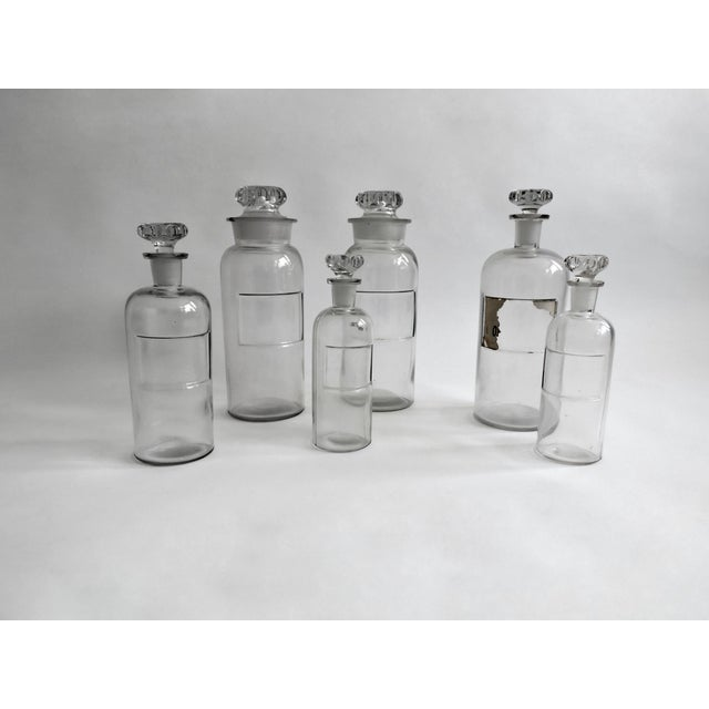 Antique Apothecary Bottles - Set of 6 - Image 2 of 6