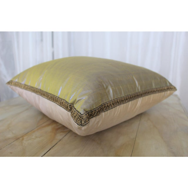 Isabelle H. Dual Color Metallic Silk Pillow - Image 4 of 7