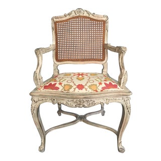 French Country Cane Back Arm Chair
