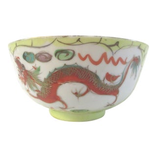Chinese Hand-Painted Dragon Fingertip Bowl