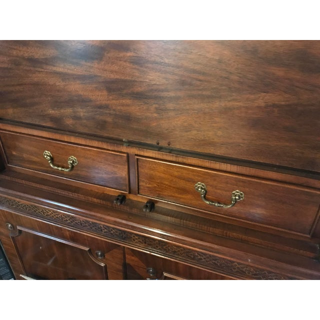 Vintage Century Cherry Wood Bar Armoire Cabinet - Image 6 of 11
