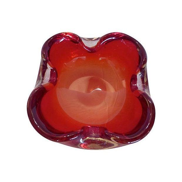 Image of Red Murano Glass Dish