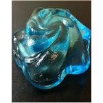 Image of Fenton Electric Blue Swirled Ashtray