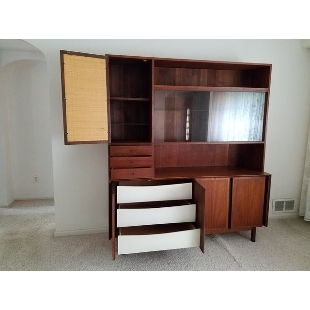 Mid-Century Dillingham Wall Unit with Shelving - Image 3 of 9