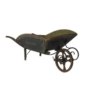 A TREMENDOUS CHILD'S WHEELBARROW FROM MAINE, CA 1840-1870: