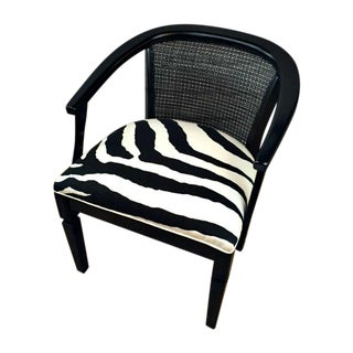 Black & White Zebra Upholstered Chair
