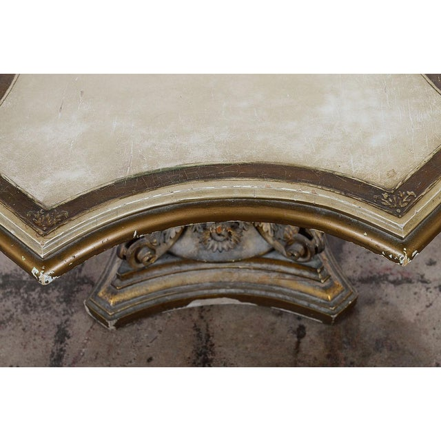 Venetian End Tables with Rococo Pedestals - A Pair - Image 10 of 11