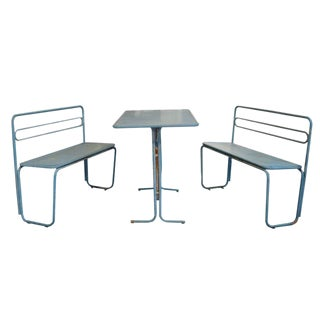Italian Iron Cafe Table and Benches