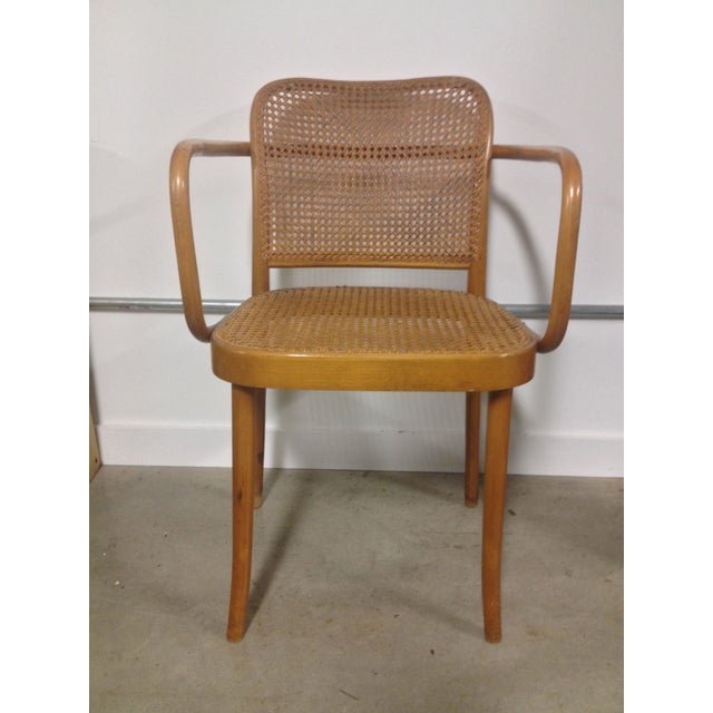 Thonet Mid-Century Bentwood and Cane Armchair - Image 2 of 8