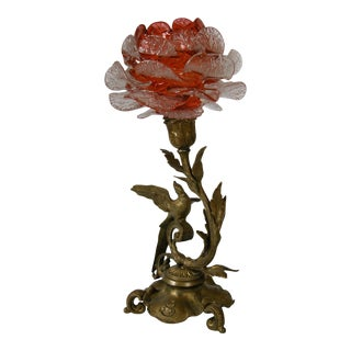 19th C. French Gilded Bronze & Glass Epergne