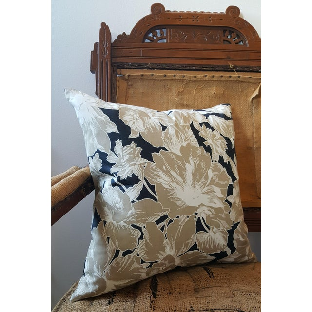 Vintage Floral Throw Pillows - A Pair - Image 3 of 5