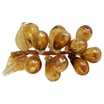 Image of Mid-Century Hand-Blown Glass Grapes - Set of 3