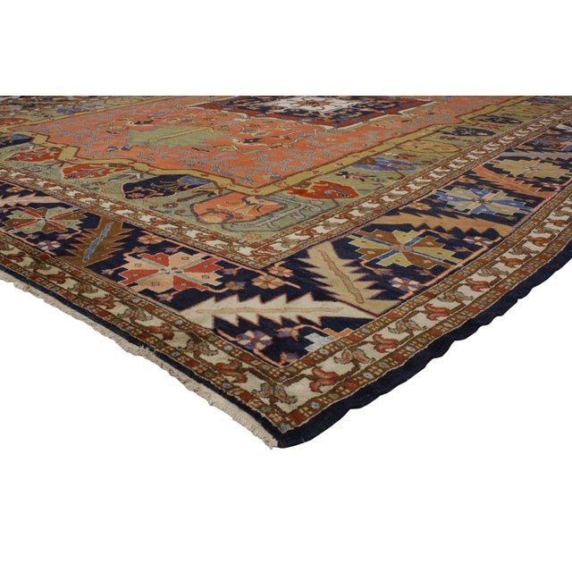 "Contemporary Persian Heriz Rug - 15' x 18'10"" - Image 2 of 9"