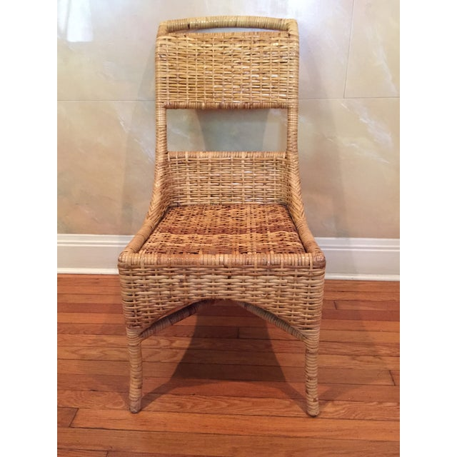 Vintage McGuire Caned Side Chair - Image 8 of 8
