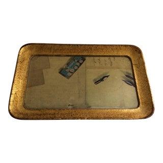 Vintage Gold Italian Wood Vietri Writing Tray