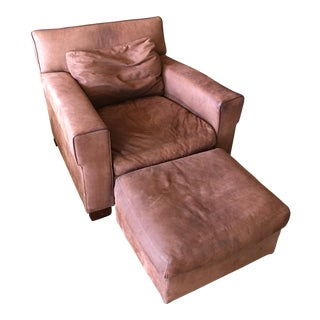 Ralph Lauren Leather Chair & Ottoman