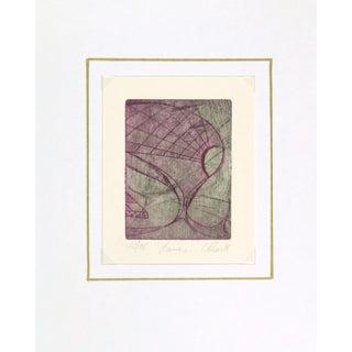 "Abstract Woodcut ""Crescendo"" 1981"