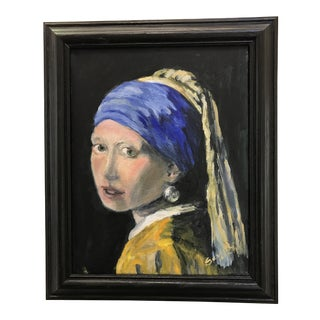 """""""The Girl With the Pearl Earring"""" Painting"""